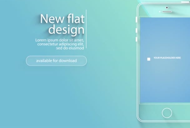 design flat and modern app explainer