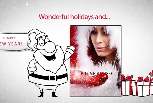 do whiteboard Christmas greeting card