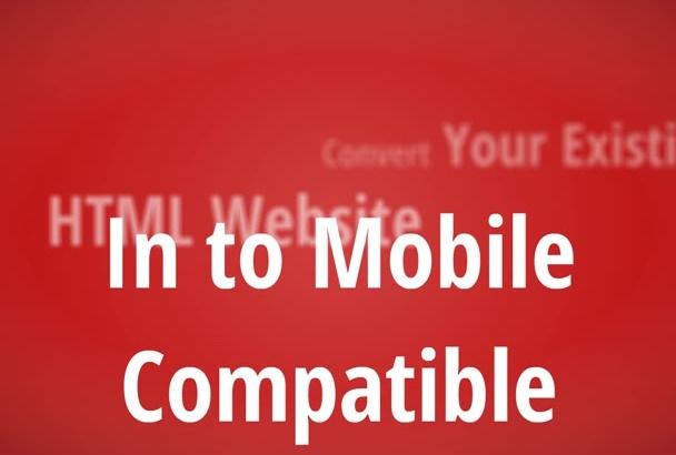 convert your HTML website in to responsive