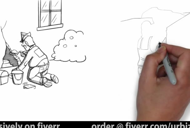 create a Pro Doodle Sketch Whiteboard Animation Video