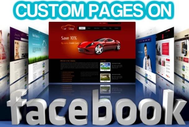 create a custom made Facebook page