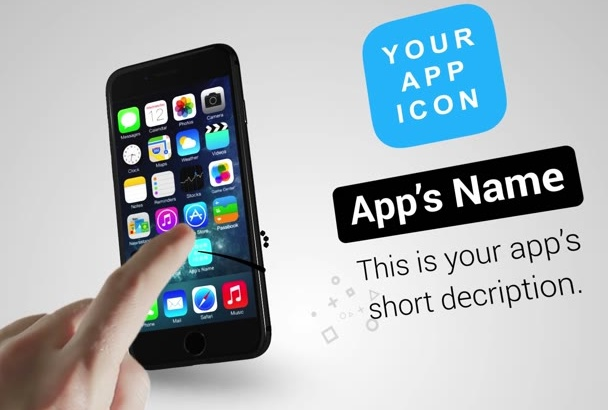 create a stylish mobile app promo video for ios or android