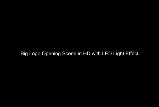 make grand big logo opening show to ur brand or product with custom message