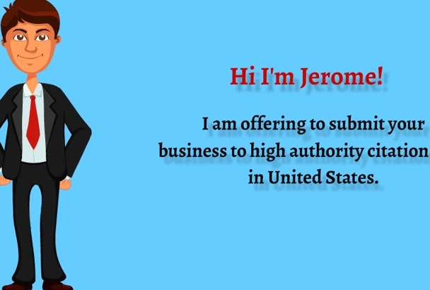 manually submit your business to 20 US citation sites