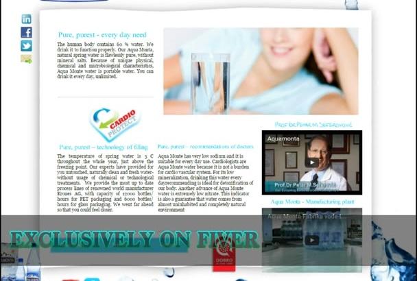 do html static responsive business website