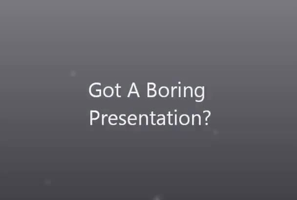 make a boring presentation more interesting