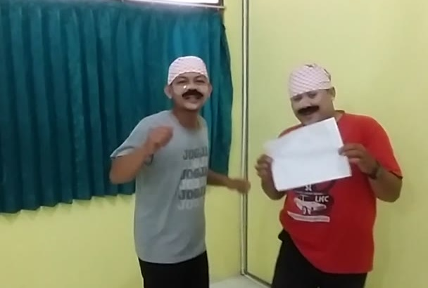 singing Happy Birthday and do funny dance