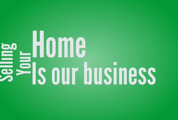 create marketing video for Real Estate Agent