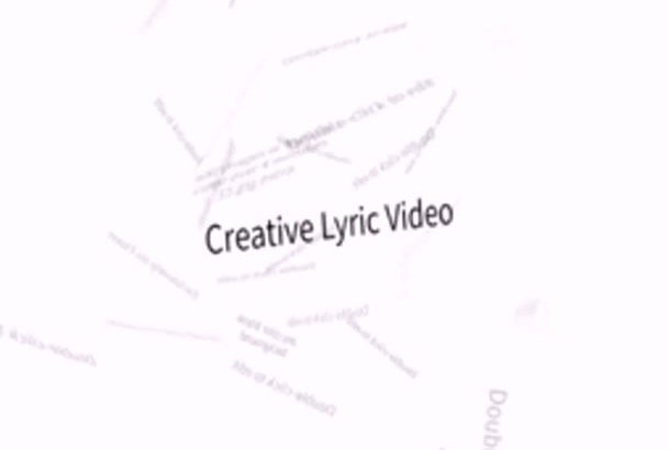 create a lyric video for any song