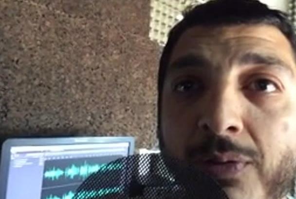 record a male voice