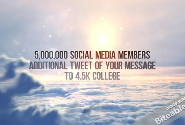 promote your website to 5,000,000 COLLEGE Students