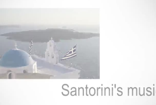 send you a digital music compilation Postcard from SANTORINI island with 10 traditional songs