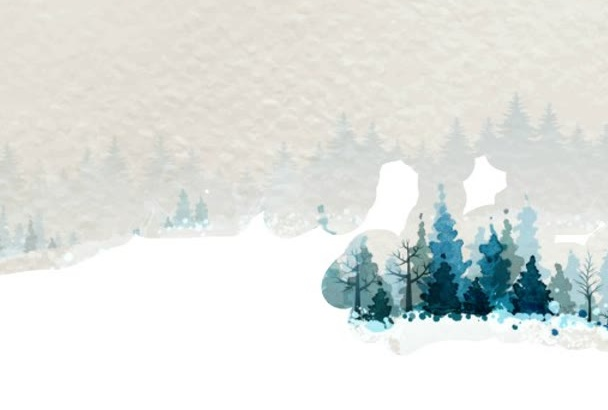 create a winter scenery for New Year