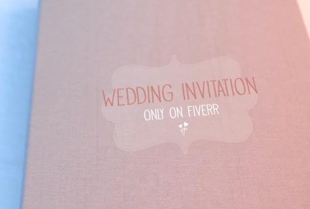 create a Wedding Invitation Video