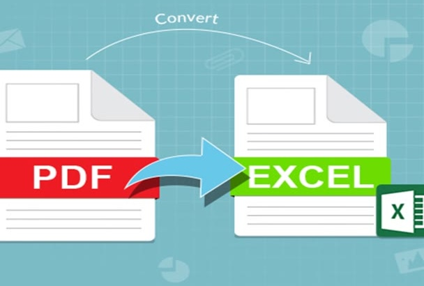 convert PDF to ms Excel