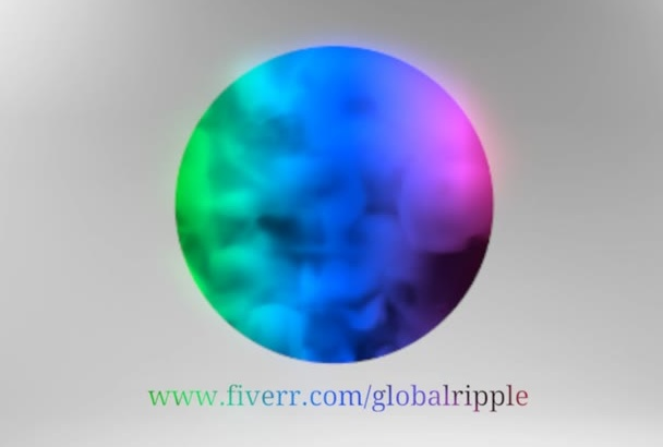 create 3D Multicolor Smoke Logo Animation Video in Full HD