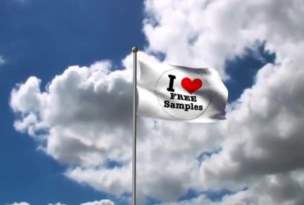 place your logo on 3D waving flag with live background