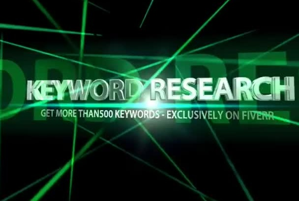 do Indepth KEYWORD Research, get more than 500 key words