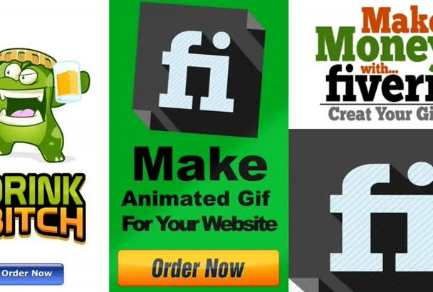 animated Gif banner ad or logo animation