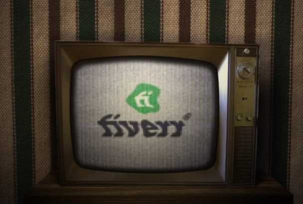 make Old Broken Tv Logo Animation