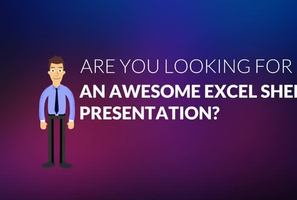 create an awesome Excel sheet presentation