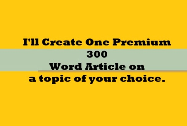 write an exclusive blog post or article