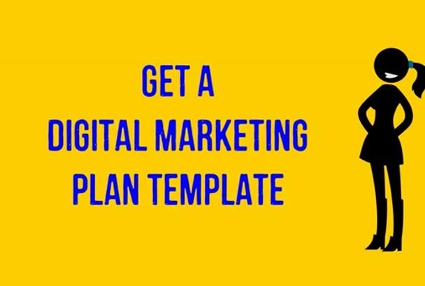 send you a Digital Marketing Plan Template