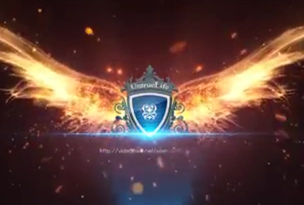 create a powerful wing logo intro