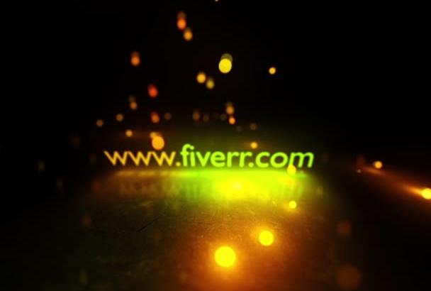 create a LIGHT Floor Particle Logo Stinger