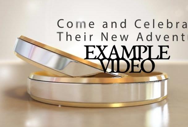 create a wedding invitational video