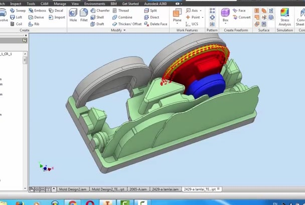 draw 2D and 3D models with Inventor and autocad