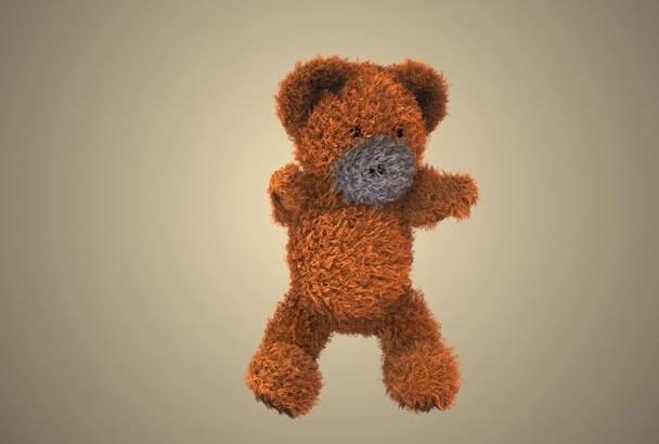 make Teddy Bear dancing video holding your logo HD