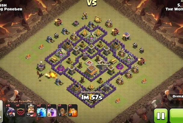 earn 3 stars in a Clash of Clan battle on your behalf