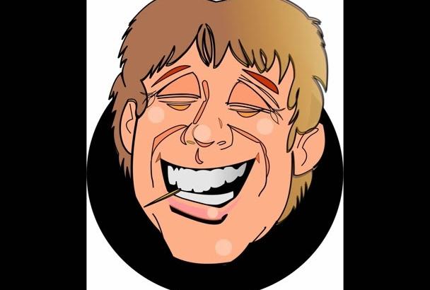 create an animated caricature cartoon of you