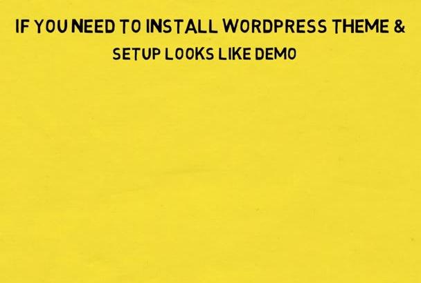 install wordpress , setup wordpress theme