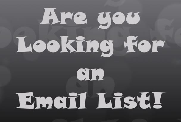 sell ready email list with their full names and addresses