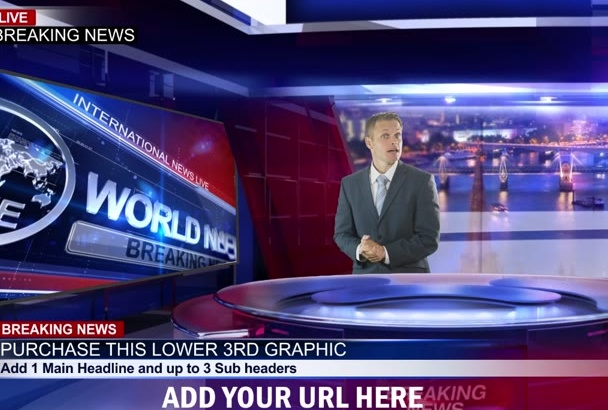 record Breaking News Spokesperson Video with up to 3 presenters