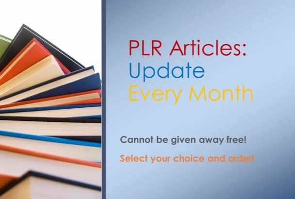 send you 4 niches of current PLR articles