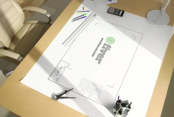 create ARCHITECT video intro animation