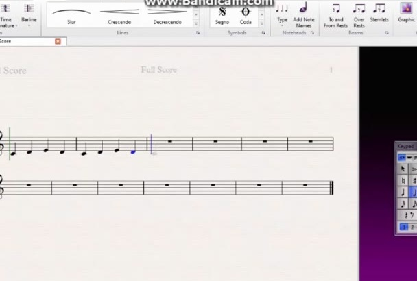 make a digital version of your handwritten score