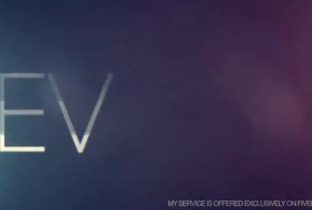do Professional Logo Glitch Video Intro in 4K