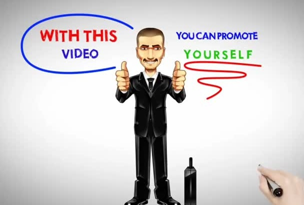 do a   cartoon  video to promote yourself