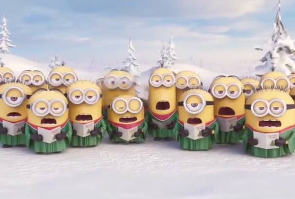wish Happy Holidays in a special way with  minions