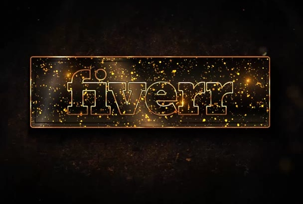 do Liquid Gold logo Particle intro video