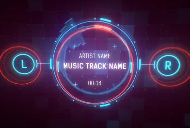 make the Futuristic Interface Music Visualization Video