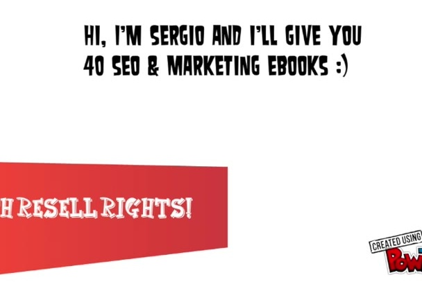 give you 40 SEO marketing eBooks with Mrr