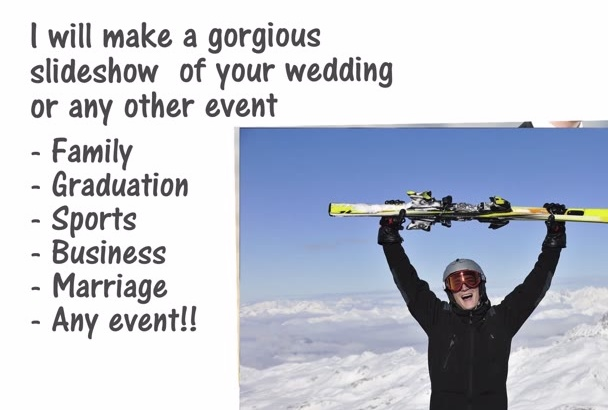create a gorgeous video slide show for any event