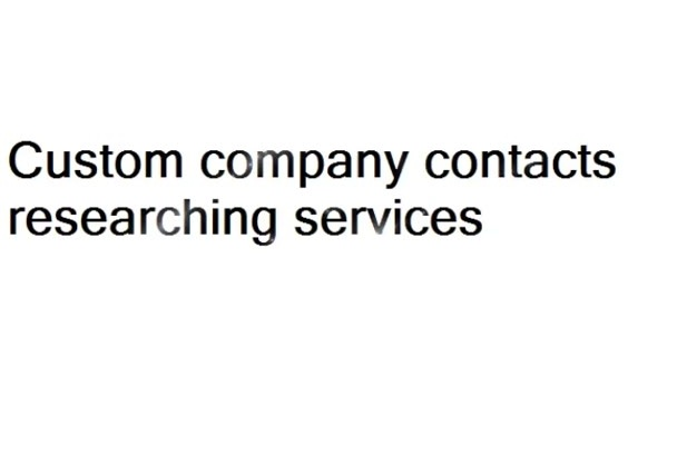 research companies and their contact info