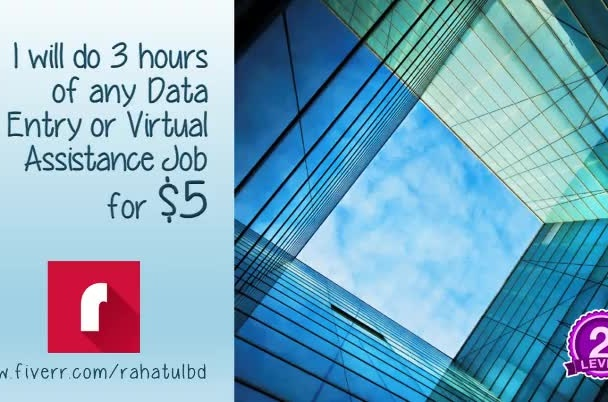 do 3 hours of any Data Entry or Virtual Assistance Job