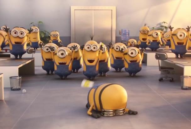 make super funny minion dance to promote your company